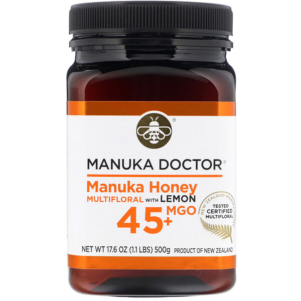 Manuka Honey Multifloral with Lemon,  MGO 45+  , 1.1 lb (500 g)