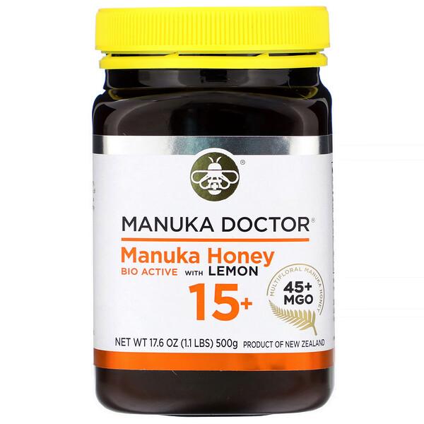 Manuka Doctor, Manuka Honey Bio Active with Lemon 15+, MGO 45+, 17.6 oz (500 g)