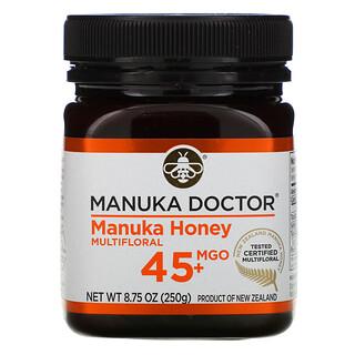 Manuka Doctor, мед манука из разнотравья, MGO45+, 250г (8,75унции)