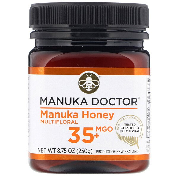 Manuka Doctor, Multifloral Manuka Honey, BioActive 10 +, 250 גר'