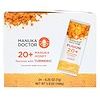 Manuka Doctor, Fusion 20+ Manuka Honey, Flavored with Turmeric, 24 Sachets, 0.25 oz (7 g) Each