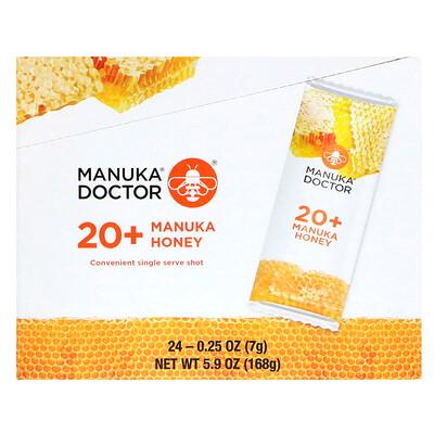 Купить Manuka Doctor 20+ Manuka Honey, 24 Sachets, 0.25 oz (7 g) Each