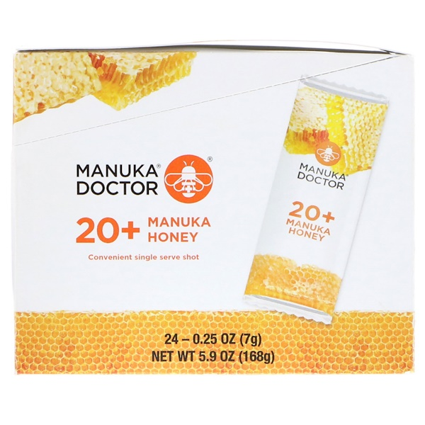 Manuka Doctor, 20+ Manuka Honey, 24 Sachets, 0.25 oz (7 g) Each