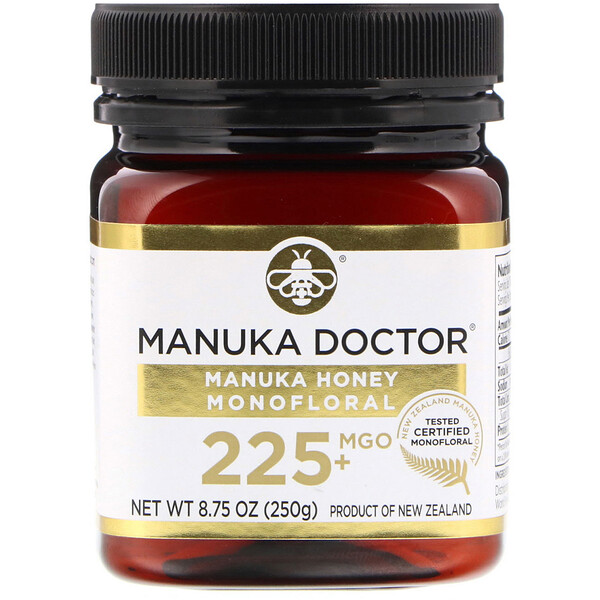 Manuka Honey Monofloral, MGO 225+, 8.75 oz (250 g)