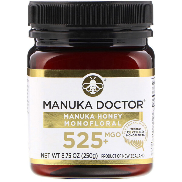 Manuka Honey Monofloral, MGO 525+, 8.75 oz (250 g)