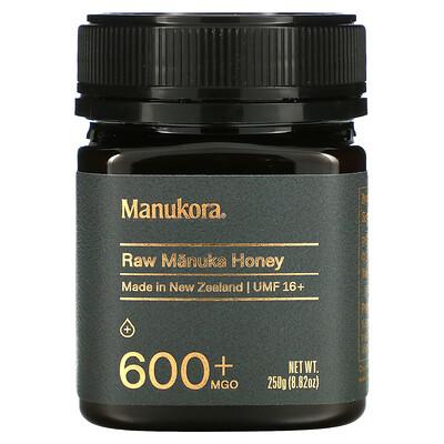 Manukora Raw Manuka Honey, 600+ MGO, 8.82 oz (250 g)