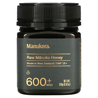 Manukora, عسل المانوكا الخام، 600+ ميثيل جليوكسال، 8.82 أونصة (250 جم)