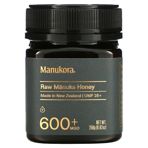 Manukora, Raw Manuka Honey, 600+ MGO, 8.82 oz (250 g)
