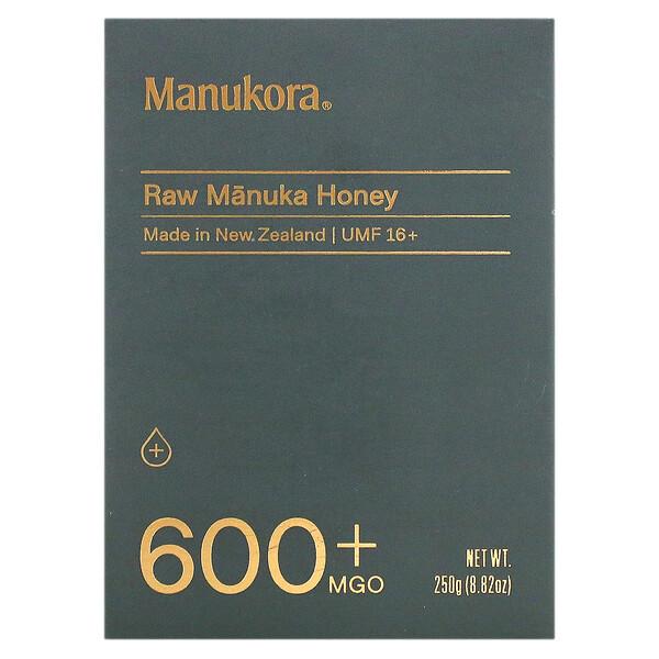 Raw Manuka Honey, 600+ MGO, 8.82 oz (250 g)