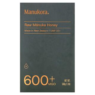 Manukora, Raw Manuka Honey, 600+ MGO, 1.1 lb (500 g)