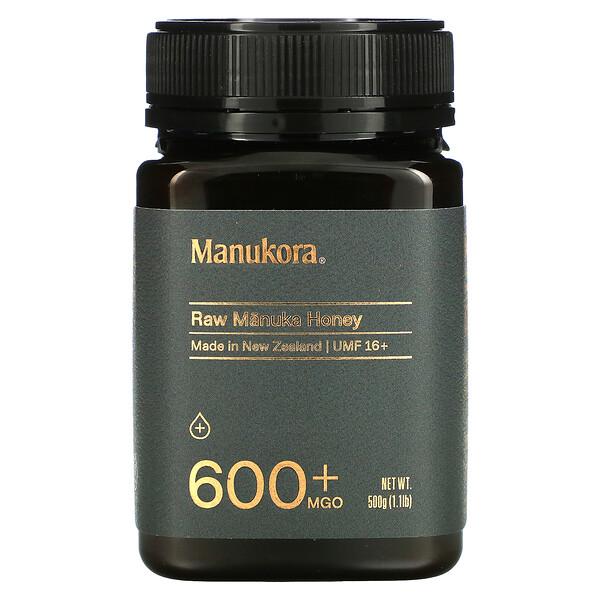 Raw Manuka Honey, 600+ MGO, 1.1 lb (500 g)