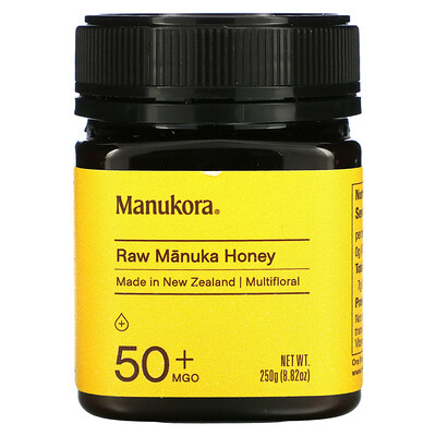Manukora Raw Manuka Honey, 50+ MGO, 8.82 oz (250 g)