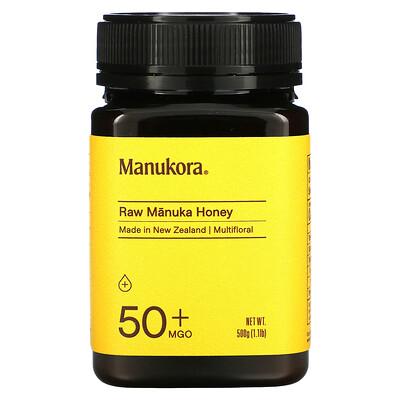 Manukora Raw Manuka Honey, 50+ MGO, 1.1 lb (500 g)