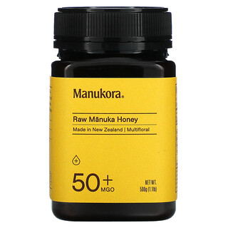 Manukora, Raw Manuka Honey, 50+ MGO, 1.1 lb (500 g)
