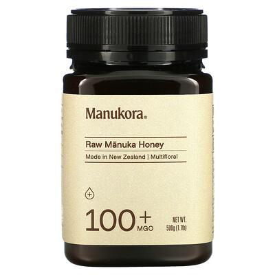 Manukora Raw Manuka Honey, 100+ MGO, 1.1 lb (500 g)