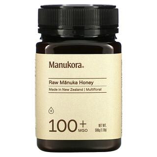 Manukora, Raw Manuka Honey, 100+ MGO, 1.1 lb (500 g)