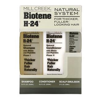 Mill Creek Botanicals, Biotene H-24, Sistema natural, Kit de 3 piezas