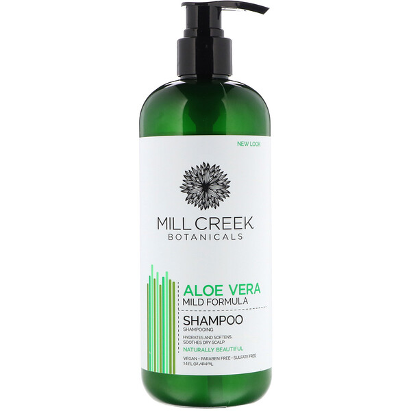 Mill Creek Botanicals, Aloe Vera Shampoo, Mild Formula, 14 fl oz (414 ml)