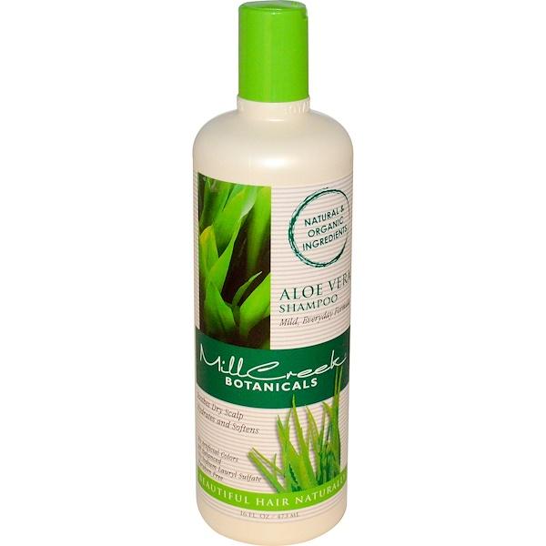 Mill Creek, 蘆薈洗髮水,16液量盎司(473毫升)