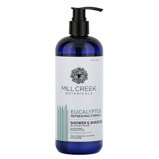 Mill Creek Botanicals, Shower & Shave Gel, Eucalyptus, 14 fl oz (414 ml)