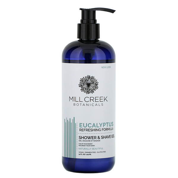 Shower & Shave Gel, Eucalyptus, 14 fl oz (414 ml)