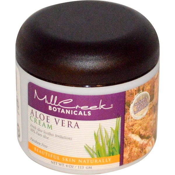 Mill Creek Botanicals, Aloe Vera Cream, 4 oz (113 g) (Discontinued Item)