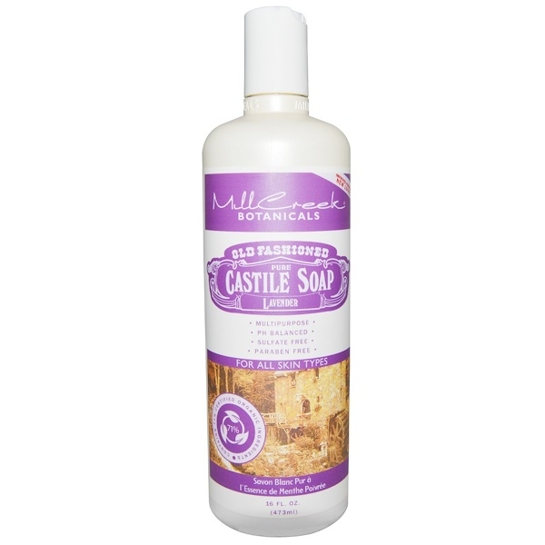 Mill Creek Botanicals, Old Fashioned Pure Castile Soap, Lavender, 16 fl. oz (473 ml) (Discontinued Item)