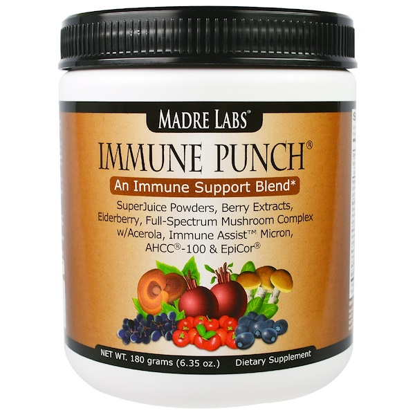 Madre Labs, Immune Punch, イミューンサポートブレンド, 6.35 オンス (180 grams) (Discontinued Item)