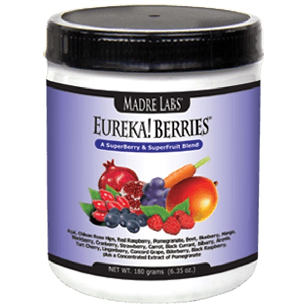 Madre Labs, Eureka! Berries, A SuperBerry & SuperFruit Blend, 6.35 oz (180 g) (Discontinued Item)