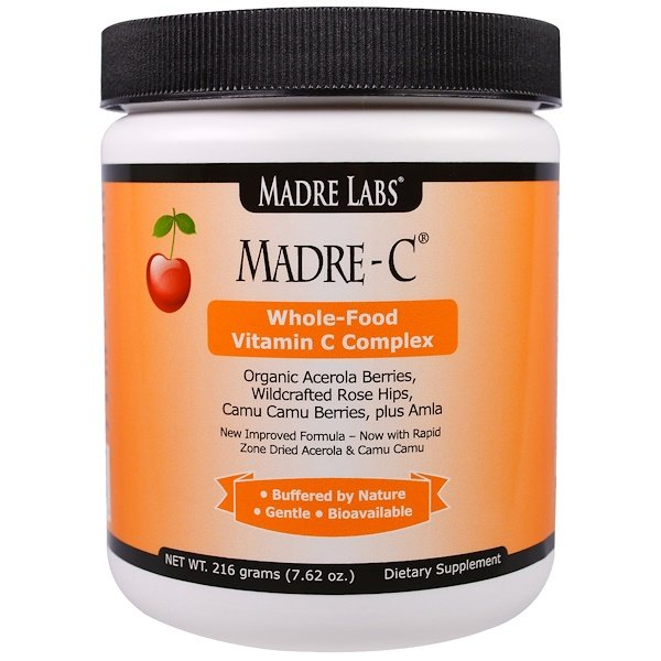 Madre Labs, Madre-C, Whole-Food Vitamin C Complex, 7.62 oz (216 g) (Discontinued Item)