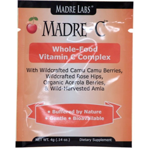 Madre Labs, Madre-C, Whole-Food Vitamin C Complex, 1 Packet, 0.14 oz (4 g) (Discontinued Item)