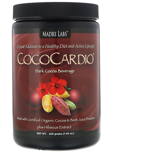 Madre Labs, CocoCardio, Certified Organic Cocoa & Beet Juice Powders, Plus Hibiscus Extract, 7.93 oz. (225 g)