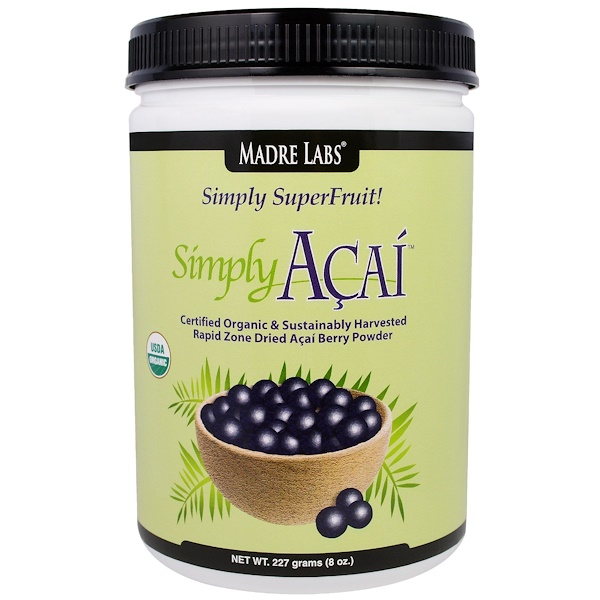 Madre Labs, Simply Acai Organic Powder, 8 oz (227 g) (Discontinued Item)