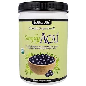Мадрэ Лэбс, Simply Acai Organic Powder, 8 oz (227 g) отзывы покупателей