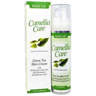 Madre Labs, Camellia Care, крем для кожи с зеленым чаем EGCG, против старения, увлажняющий, 1,7 жидких унций (50 мл)