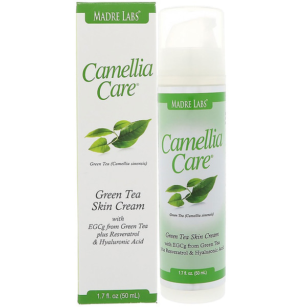 Madre Labs, Camellia Care, Green Tea Facial Cream, 1.7 fl oz (50 ml) (Discontinued Item)