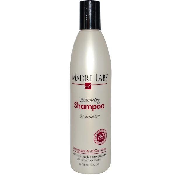 Madre Labs, Балансирующий шампунь, сочный гранат, для нормальных волос, 12.5 жидких унций(370 мл) (Discontinued Item)