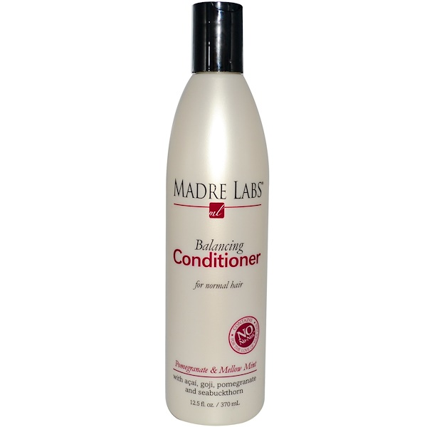 Madre Labs, Balancing Conditioner, Pomegranate & Mellow Mint, 12.5 fl oz (370 ml) (Discontinued Item)