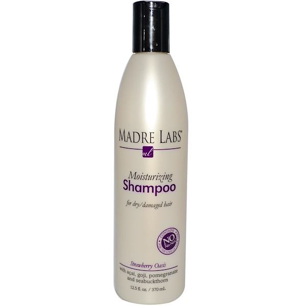 Madre Labs, Moisturizing Shampoo, Strawberry Oasis, 12.5 fl oz (370 ml) (Discontinued Item)