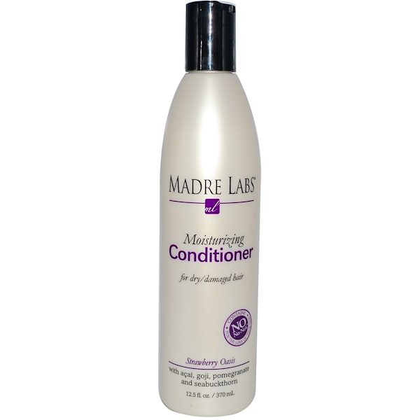 Madre Labs, Moisturizing Conditioner, Strawberry Oasis, 12.5 fl oz (370 ml) (Discontinued Item)