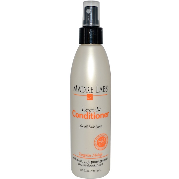 Madre Labs, Leave-In Conditioner, Tangerine Melody, For All Hair Types, 8.7 fl oz (257 ml) (Discontinued Item)
