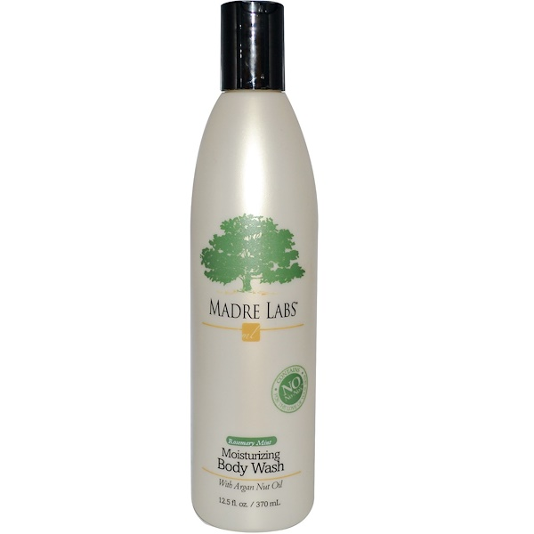 Madre Labs, Moisturizing Body Wash, Rosemary Mint, 12.5 fl oz (370 ml) (Discontinued Item)