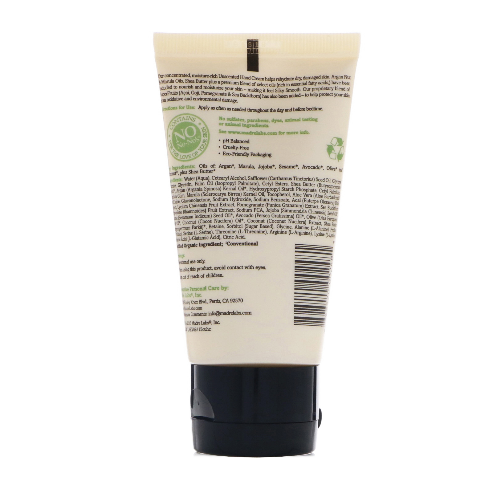Madre Labs Argan Oil Hand Cream With Marula Coconut Oils Plus Click To Zoom
