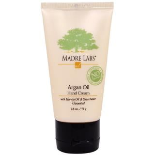 Madre Labs, Argan Oil Hand Cream with Marula & Coconut Oils plus Shea Butter, Soothing and Unscented, 2.5 oz (71 g)