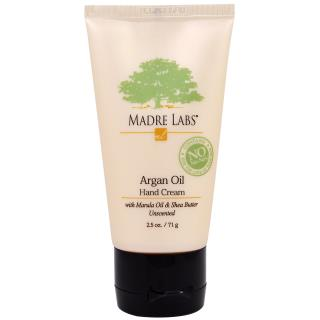 Madre Labs, Argan Oil Hand Cream with Marula & Coconut Oils plus Shea Butter、Soothing and Unscented、2.5 オンス、 (71 g)