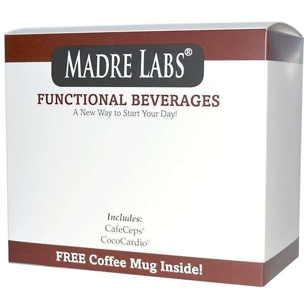 Madre Labs, Functional Beverages with Coffee Mug Kit, 3 Piece Kit (Discontinued Item)