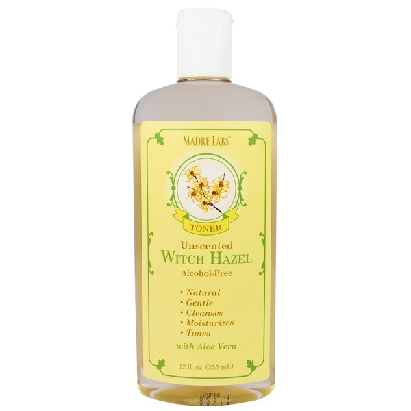 Madre Labs, Witch Hazel Toner, Moisturizing and Plant-Based, Unscented, Alcohol-Free, 12 fl. oz. (355 mL) (Discontinued Item)