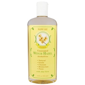 Мадрэ Лэбс, Witch Hazel Toner, Moisturizing and Plant-Based, Unscented, Alcohol-Free, 12 fl. oz. (355 mL) отзывы покупателей