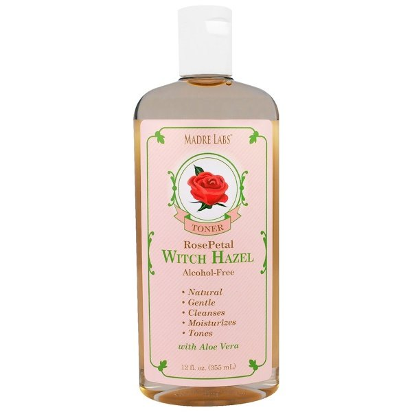 Madre Labs, Witch Hazel Toner, Moisturizing and Plant-Based, Rose Petal, Alcohol Free, 12 fl. oz. (355 mL) (Discontinued Item)