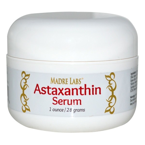 Madre Labs, Astaxanthin Serum (Cream), 1 oz (28 g) (Discontinued Item)